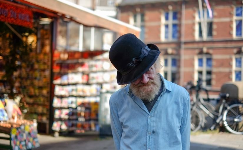 In de straten vanAmsterdam